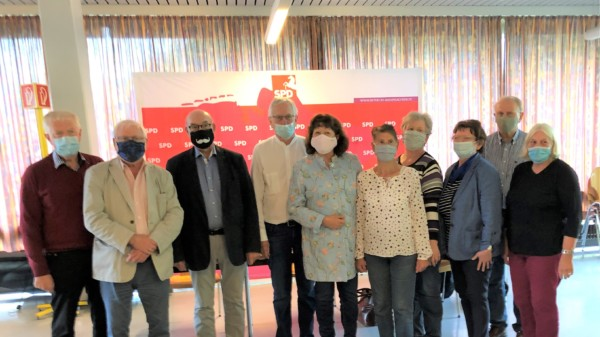 Foto: Vorstand der SPD-AG 60 plus nach der Neuwahl